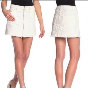 Free People Zip It Mini Denim Jean Skirt size 26
